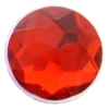 Acrylic 12mm Round Facet Ruby